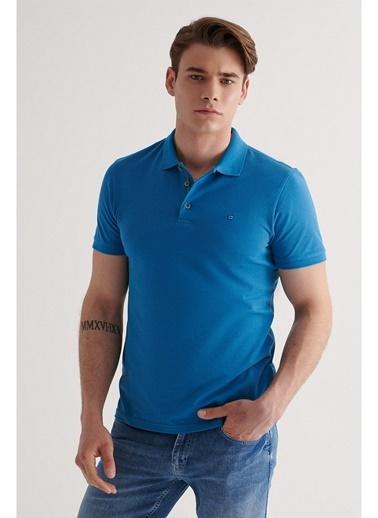 Avva Erkek  Polo Tişört A11B1174 Mavi